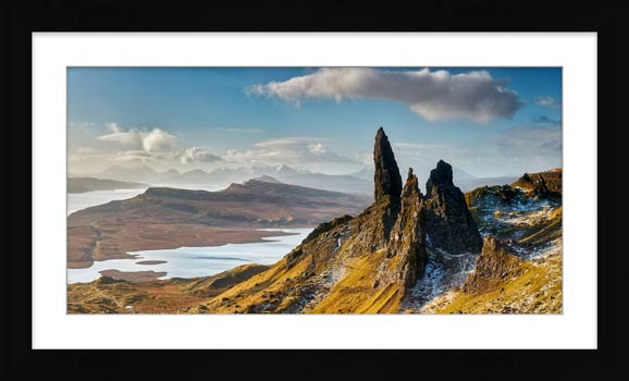 Old Man of Storr and Cuillins - Framed Print