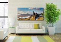 Old Man of Storr and Cuillins - Print Aluminium Backing With Acrylic Glazing on Wall