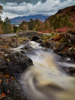 Ashness Bridge Stormy Day - Lake District Canvas