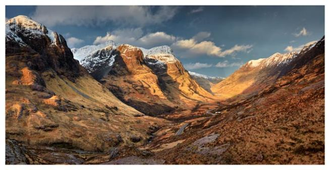 Mountains of Glencoe - Scotland Print