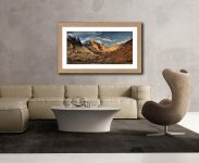 Mountains of Glencoe - Framed Print with Mount on Wall