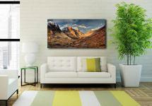 Mountains of Glencoe - Print Aluminium Backing With Acrylic Glazing on Wall