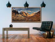 Mountains of Glencoe - Oak floater frame with acrylic glazing on Wall