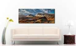 Snow on the Trotternish Mountains - Canvas Print on Wall