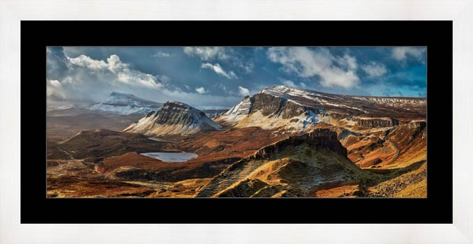 Snow on the Trotternish Mountains - Framed Print with Mount