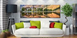 Golden Dawn Buttermere - UltraHD Print with Aluminium Backing on Wall