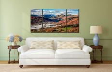 Chapel Stile Langdale - 3 Panel Wide Centre Canvas on Wall