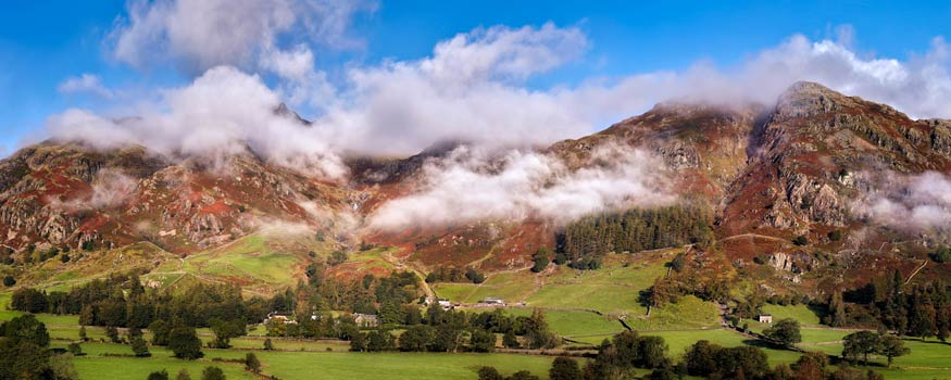 Misty Mountains of Langdale - UltraHD Print with Aluminium Backing