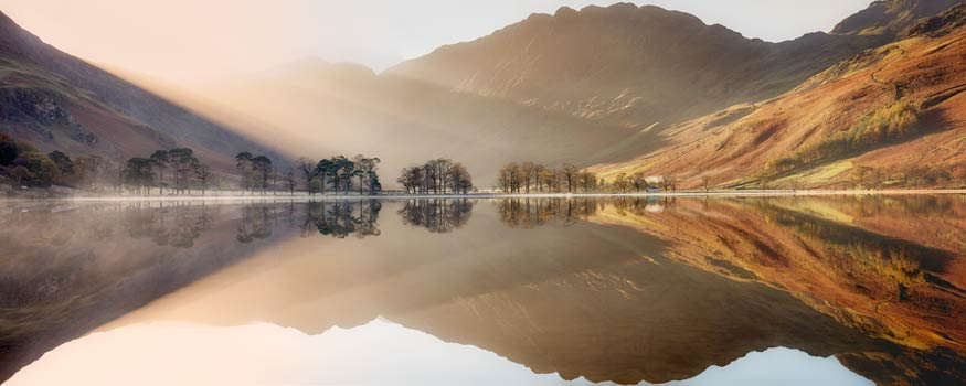 Bright Light on Buttermere - UltraHD Print with Aluminium Backing