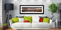 Loch Stainge From Rannock Moor - Framed Print with Mount on Wall