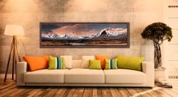 Mountains Around Rannoch Moor - Walnut floater frame with acrylic glazing on Wall