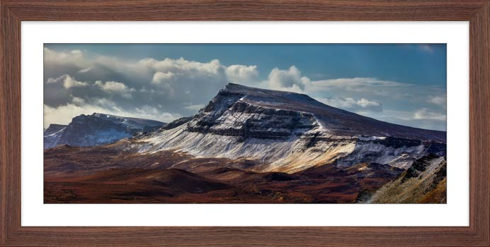 Winter on the Trotternish Mountains - Framed Print