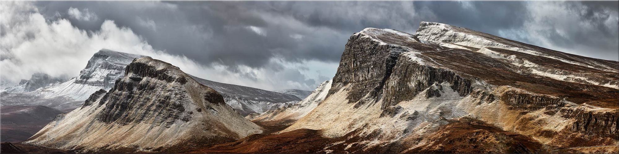 Snow on the Cleat and Dun Dubh - Canvas Print