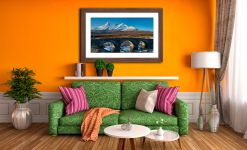 Stone Bridge at Sligachan - Framed Print with Mount on Wall