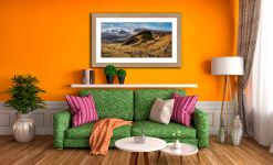 Quiraing Boulder Field - Framed Print with Mount on Wall