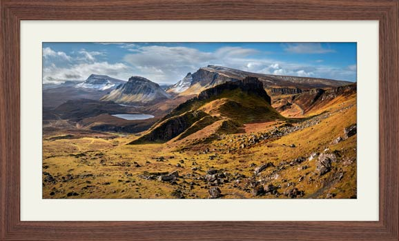 Quiraing Boulder Field - Framed Print with Mount