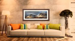 Winter Storm Quiraing - Framed Print with Mount on Wall