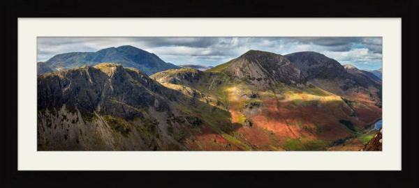 Haystacks High Crag High Stile - Framed Print with Mount