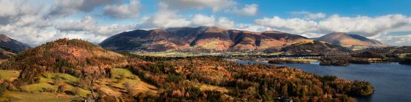 Keswick and Skiddaw Panorama - UltraHD Print with Aluminium Backing