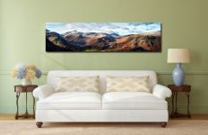 Borrowdale Mountains Panorama - UltraHD Print with Aluminium Backing on Wall