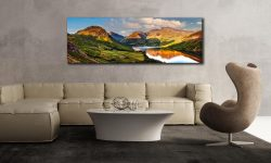 Wast Water in the Evening Sun - UltraHD Print with Aluminium Backing on Wall