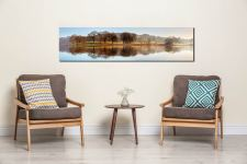 Misty Morning at Esthwaite Water - UltraHD Print with Aluminium Backing on Wall