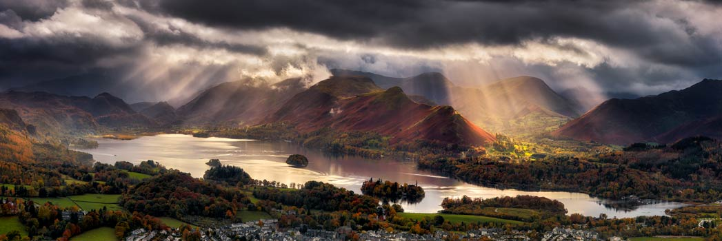 Darkness and Light Over Derwent Water - UltraHD Print with Aluminium Backing