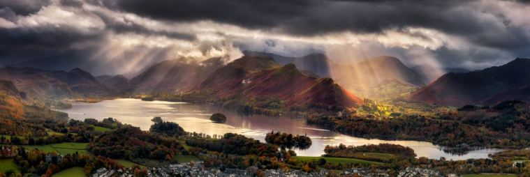 Darkness and Light Over Derwent Water - UltraHD Print