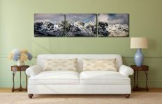 Winter snow covering the rocky slopes of Crinkle Crags in Langdale - UltraHD Print with Aluminium Backing on Wall