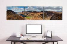 Fleethwith to High Crag - UltraHD Print with Aluminium Backing on Wall