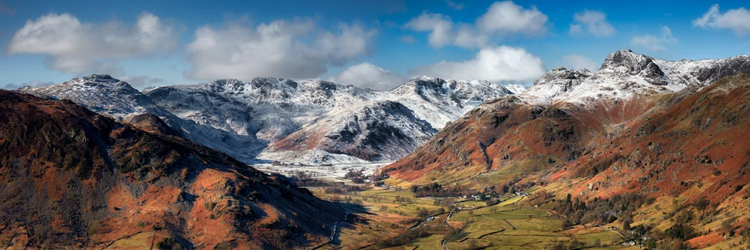 Great Langdale Valley in Winter - UltraHD Print with Aluminium Backing