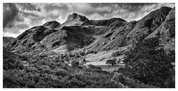Cumbrian Way Langdale - Sepia Print