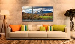 Golden Trees of Langdale - 3 Panel Canvas on Wall