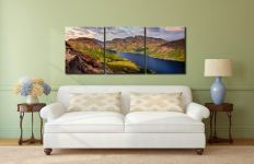 Yewbarrow and Scafell - 3 Panel Canvas on Wall