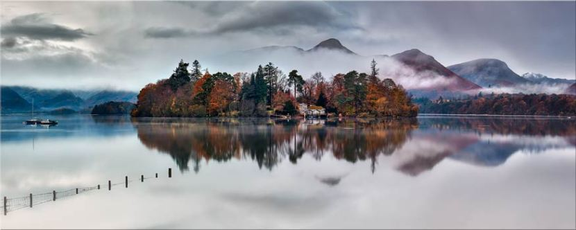 Derwent Isle Rising Mists - Lake District Canvas