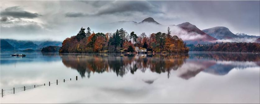 Derwent Isle Rising Mists - Lake District Canvas