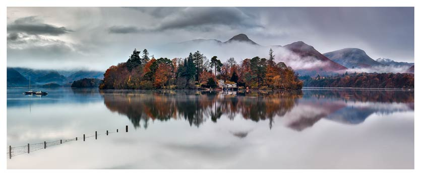 Derwent Isle Rising Mists - Lake District Print