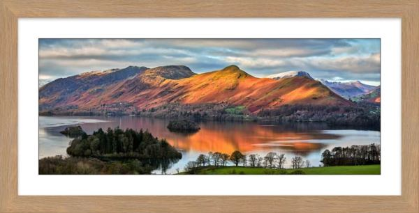 Cat Bells Sunlight - Framed Print with Mount