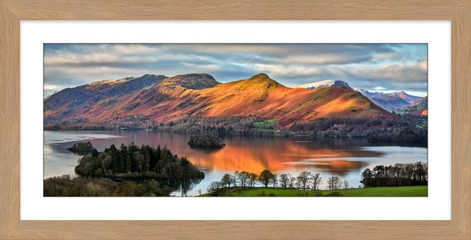 Cat Bells Sunlight - Framed Print