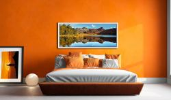 Beautiful summer's day at Blea Tarn in Langdale - White Maple floater frame with acrylic glazing on Wall