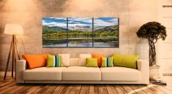 Elterwater Summer - 3 Panel Canvas on Wall