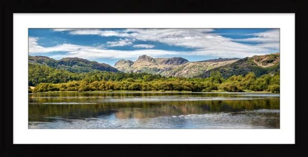 Elterwater Summer - Framed Print with Mount
