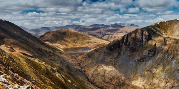 Grisedale Tarn Panorama - UltraHD Print with Aluminium Backing