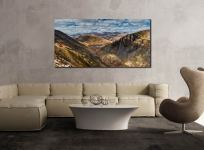 Grisedale Tarn Panorama - UltraHD Print with Aluminium Backing on Wall