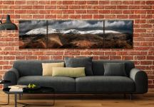 Fairfield Winter Panorama - 3 Panel Wide Centre Canvas on Wall