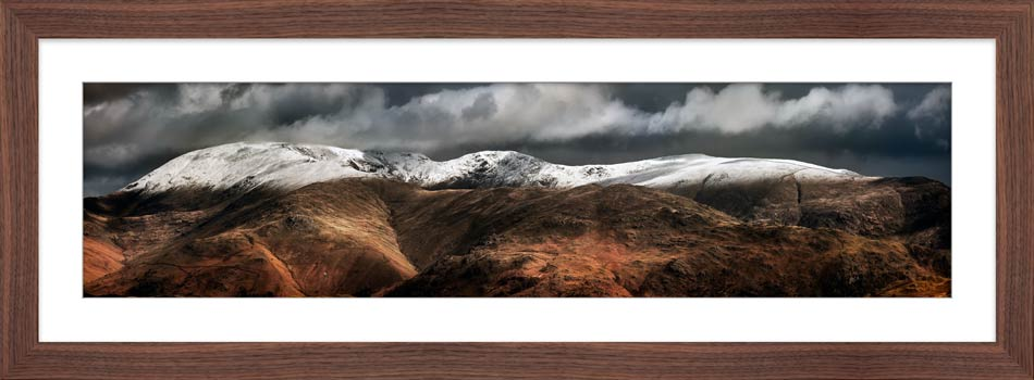 Fairfield Winter Panorama - Framed Print