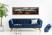 Fairfield Winter Panorama - Oak floater frame with acrylic glazing on Wall