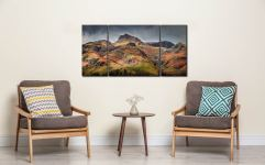 Harrison Stickle Pavey Ark - 3 Panel Wide Centre Canvas on Wall