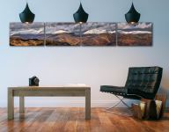 Snow Capped Mountains Panorama UltraHD 4 Panel Print on wall