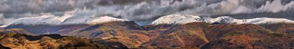 Snow Capped Mountains Panorama UltraHD Print